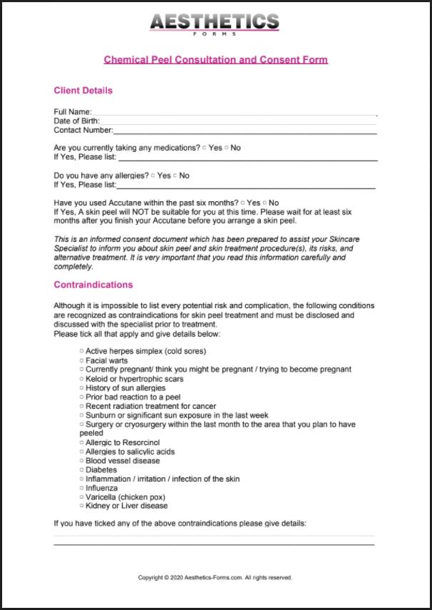 Chemical peel pdf
