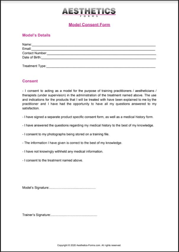 model consent pdf