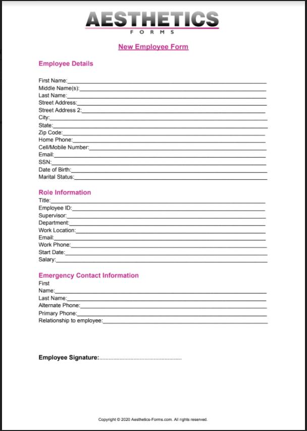 New Employee PDF