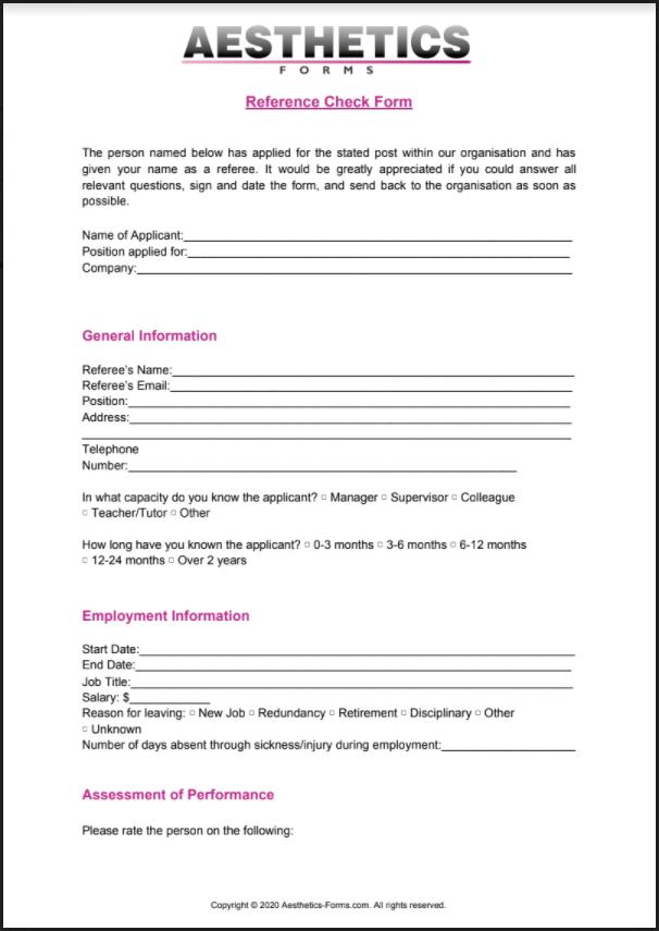 Reference Check PDF