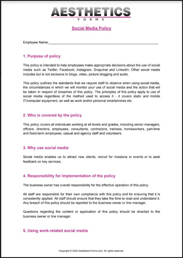 Social Media Policy PDF
